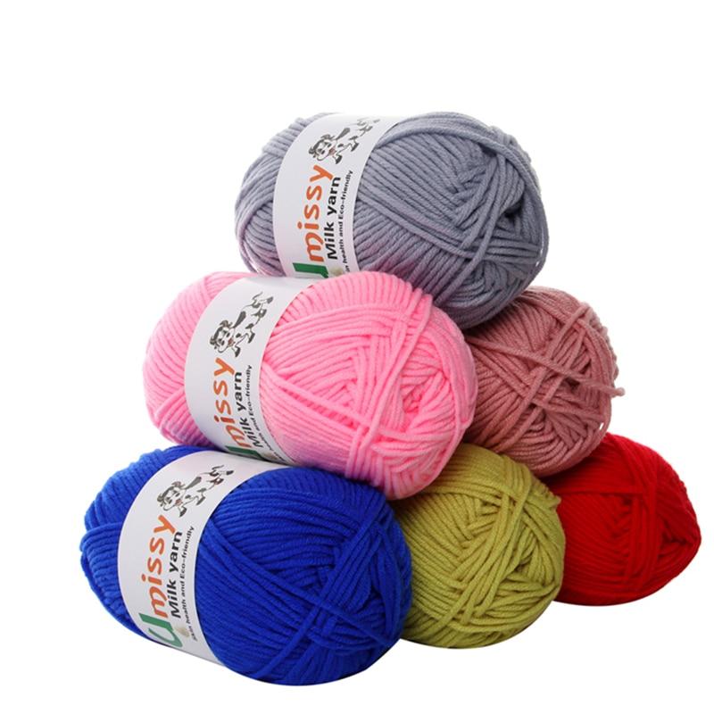 2pcs Crochet Yarn Milk Cotton Knitting Yarn Soft Warm Baby Yarn for Hand Knitting Supplies 2X50g/pc|yarn for hand knitting|baby yarnknitting yarn - AliExpress