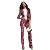 Dashiki clothes print women suits African fashion blazer with trouser Ankara pant suits custom made wedding outfits