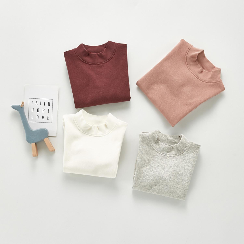 2020 Baby Autumn Clothing Newborn Baby Boy Girl Long Sleeve Tops T-shirt Baby Clothes Kids Solid Sweatshirts 2