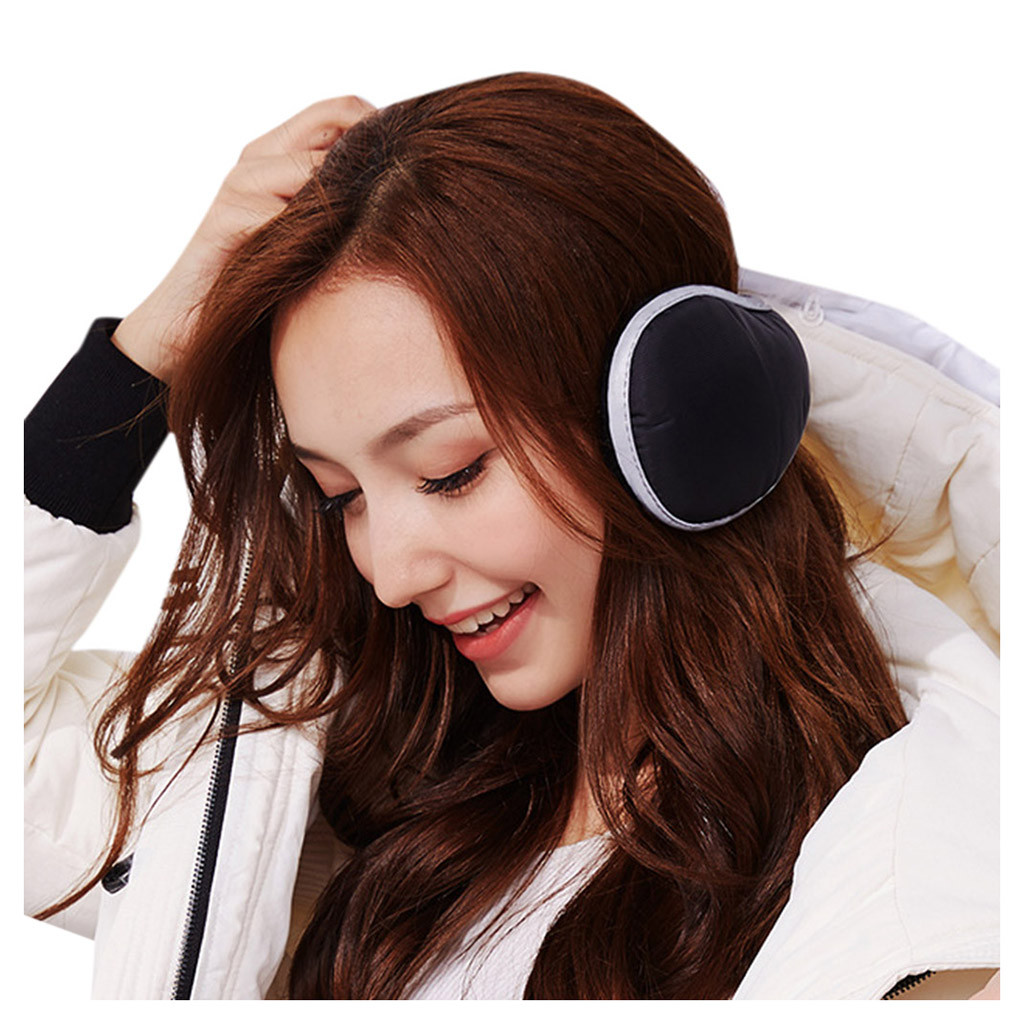 New Earmuff Comfortable Unisex Skiing Fur Headphones Unisex Foldable Winter Earmuffs Winter Reflective Ear Warmer Plush Headgear