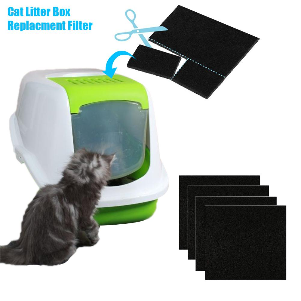 4/6Pcs Portable Pet Cat Litter Box Filter Pad Activated Carbon Deodorizing Filters Carbon Pack Deodorant For Kitten