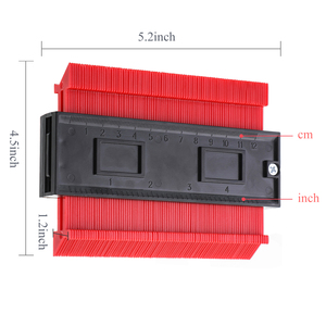 Image 5 - Çok fonksiyonlu kontur profili göstergesi döşeme laminat fayans kenar şekillendirme ahşap ölçü cetvel ABS kontur ölçer teksir 5/10 inç