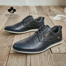 DECARSDZ New Men Genuine Leather Shoes Fashion Luxury Oxford Office Men Shoes For Men Lace up Brand Dress Men Casual Shoes