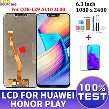 """6.3 """"LCD Huawei onur oyun için COR L29 AL10 AL00 LCD ekran dokunmatik ekran Digitizer meclisi + çerçeve ekran onur oynamak değiştirin"""