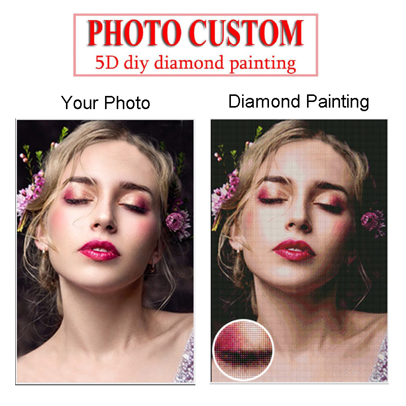 Foto personalizado 5d diy pintura diamante bordado ponto cruz imagem pintura completa redonda ou quadrado broca arte decoração da parede