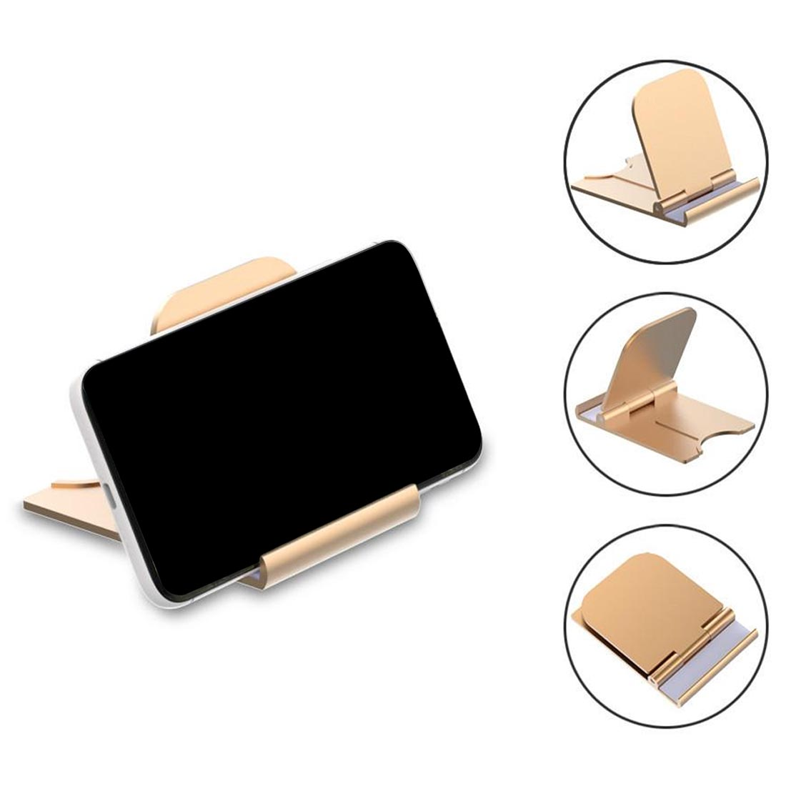 Universal Folding Cell Phone Table Stand Plastic Desk Stand Mobile Phone Holder Phone And Tablet Ring Holder For IPhone Samsung