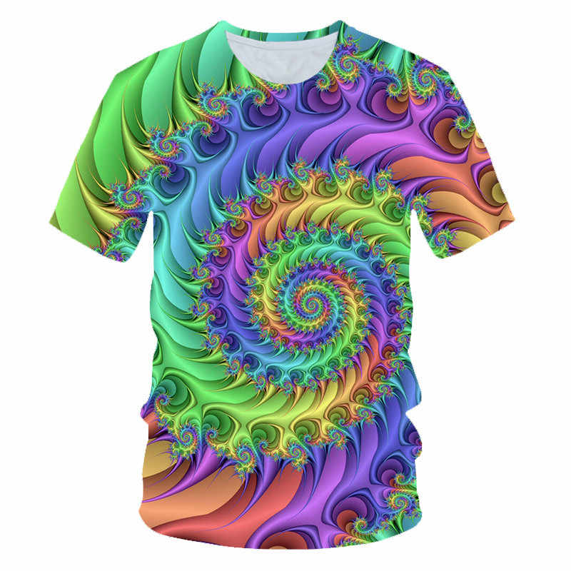 Mode Bunte Psychedelic Paisley T Hemd Männer 2020 Marke Lustige Hip Hop T Shirts Harajuku Casual Tee Shirt Homme Streetwear