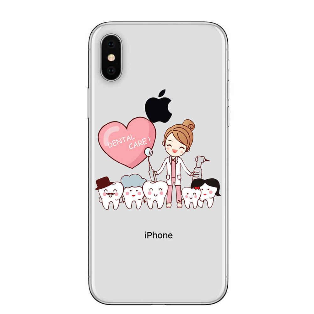 Perawat Dokter Gigi Stetoskop Gigi Suntikan Keren untuk iPhone X Max XR 7 8 8 PLUS 6 6S Plus X 5 5S SE Case Cover
