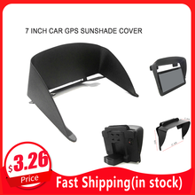 For 7 inch Navigation Accessories Car GPS Sun Shade Cover Car Navigation GPS Sunshade Cover Car GPS Cover Visor Extension(China)