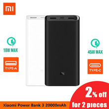Xiaomi Power Bank 3 20000MAh Pro 45W PD Fast Charger For Laptop Mi Power Bank PLM07ZM With Triple USB Output USB-C 45W 20000 mAh(China)