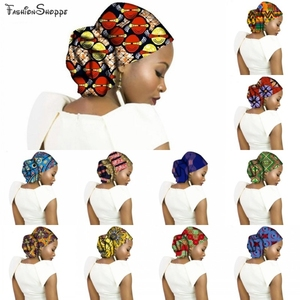 Print African Head Wrap African Head Scarf African Headwraps Womens Adults African Headscarf 50*180cm(China)