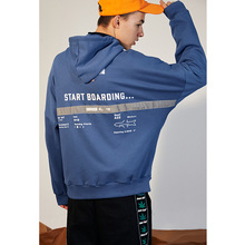 цены Flight-Ticket Design Oversize Men Casual Hoodies With Elastic Stripe Men Casual Sportswear Men Casual Clothes Men Pullover