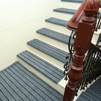 Adhesive Carpet Stair Treads Mat Non-slip Step Rug Cover Protection 15pcs
