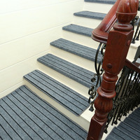 Adhesive Carpet Stair Treads Mat Non slip Step Rug Cover Protection 15pcs