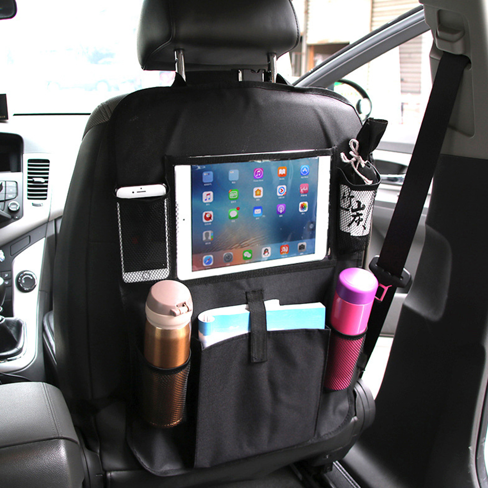 ODOMY Back-Bag Kick-Pad-Organizer Interior-Accessories Car-Seat Auto-Stowing Cover Seat-Protector title=