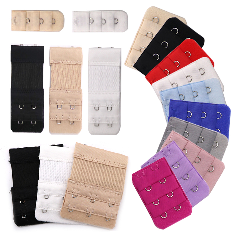 3/4/5pcs Bra Extenders Women's Underwear Bra Extensions Strap Intimates Accessories 2 Rows 3 Hooks Clasp Back Bra Extenders