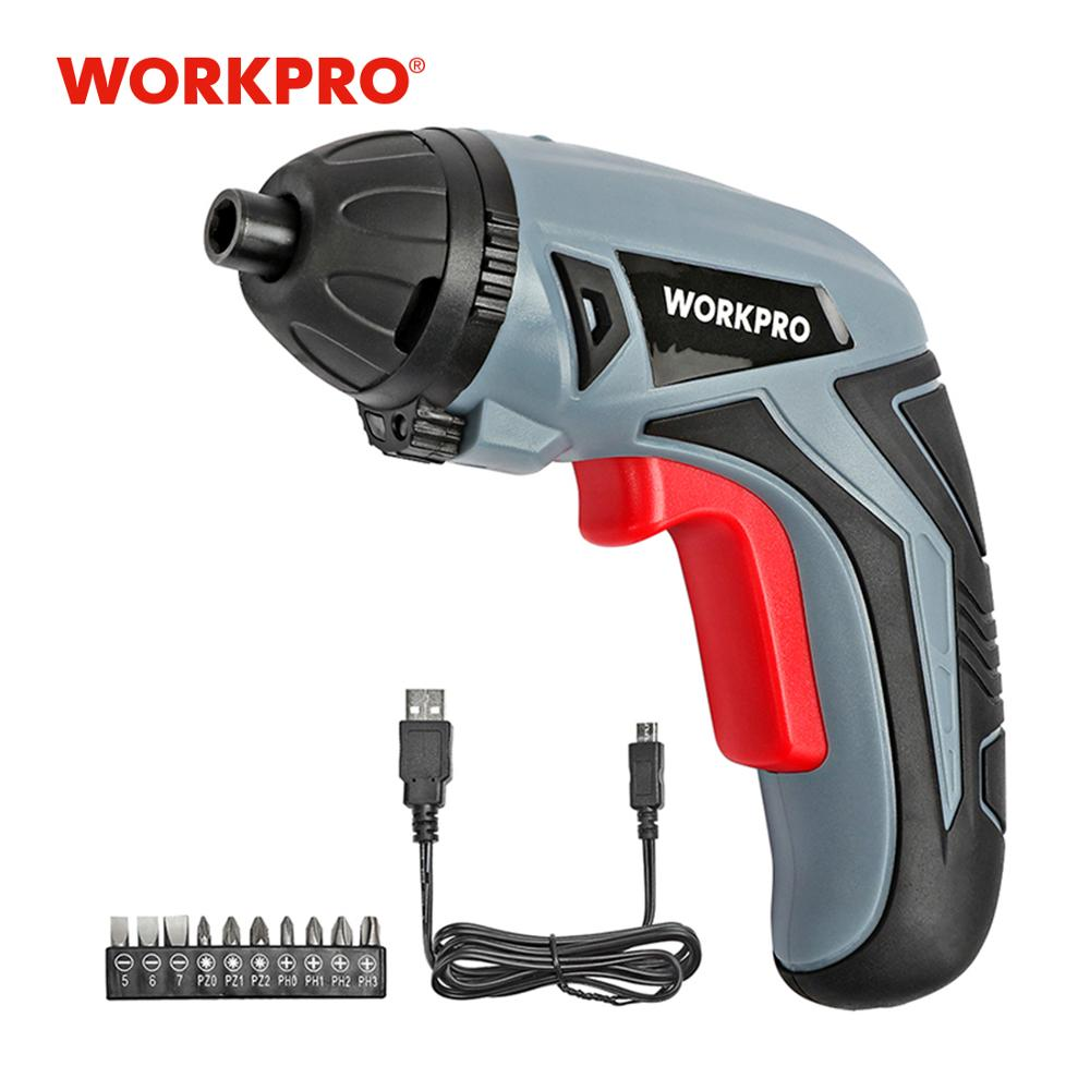WORKPRO 3.6V USB Cordless Electric Screwdriver Household Rechargeable Li-ion Screwdriver title=