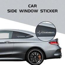 2 pçs adesivos de carro para chevrolet sport emblema auto reflexivo dwaterproof decorativo janela lateral vinil decalques pvc estilo