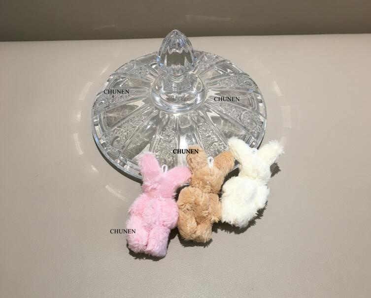 חמוד קטן ארנב 4.5CM כ. אביזרי צעצועי קטיפה-משותף ארנב בפלאש ממולא צעצוע בובה