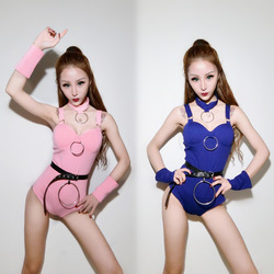 Ds costume new female group bar dj night adult sexy jazz dance costume female singer suit sling