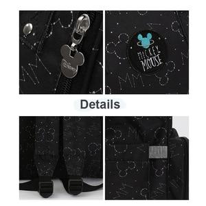 Image 3 - Disney Waterproof USB Heating Diaper Bag Toddler Mommy Diaper Backpack Cartoon Micky Travel Bag Large Capacity Minnie Nappy Bag