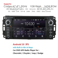 Quad Core Android 10 Car stereo for Jeep CHEVROLET EPICA 2006 2011/JEEP COMPASS/CHRYSLER SEBRING ASPEN 300C CIRRUS car stereo