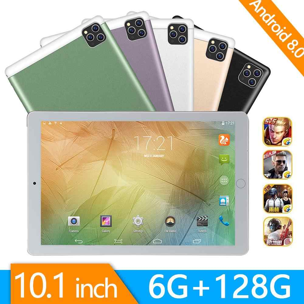2020 3G/4G Telefoontje Android 9.0 Tablet 10 Inch Tablet Pc Octa Core 6Gb 128 gb Rom Bluetooth Wifi 2.5D Staal Scherm Tabletten