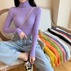 55% OFF 2021 Spring Summer long sleeve Knitted foldover Turtleneck Ribbed Pull Sweater Soft Warm Femme Jumper Pullover Clothes 2