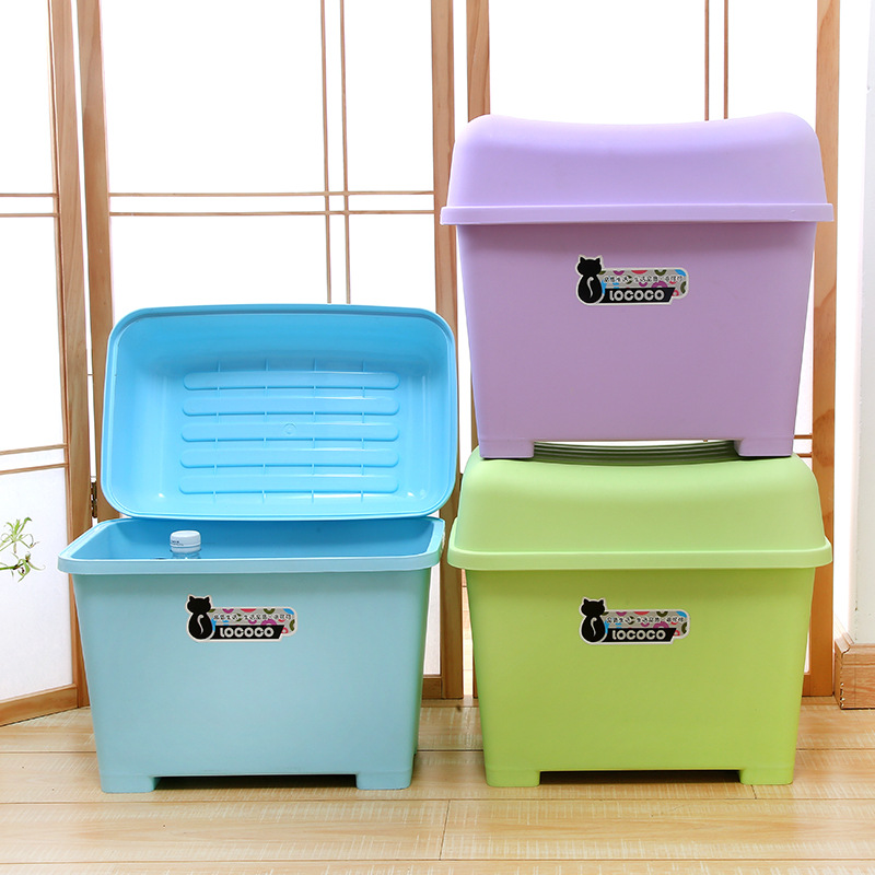 Rococo CHILDREN'S Toy Storage Chair Multi-functional Storage Stool Plastic Creative Small Bench Box People Footstool