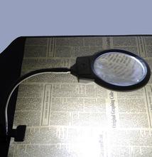 Новая настольная Лупа с подсветкой увеличительное стекло зажимом