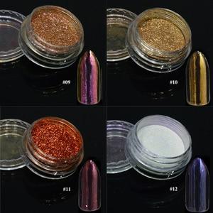 Image 5 - 1 pièces argent miroir magique Pigment poudre manucure poussière brillant Gel vernis à ongles Art paillettes Chrome poudre flocon décorations BE04S 1
