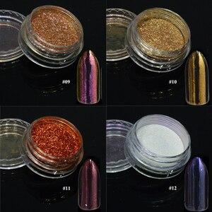 Image 5 - 1PcsกระจกเงินMagicผงสีเล็บฝุ่นShiny Gelเล็บGlitter Chrome Powder Flakeตกแต่งBE04S 1