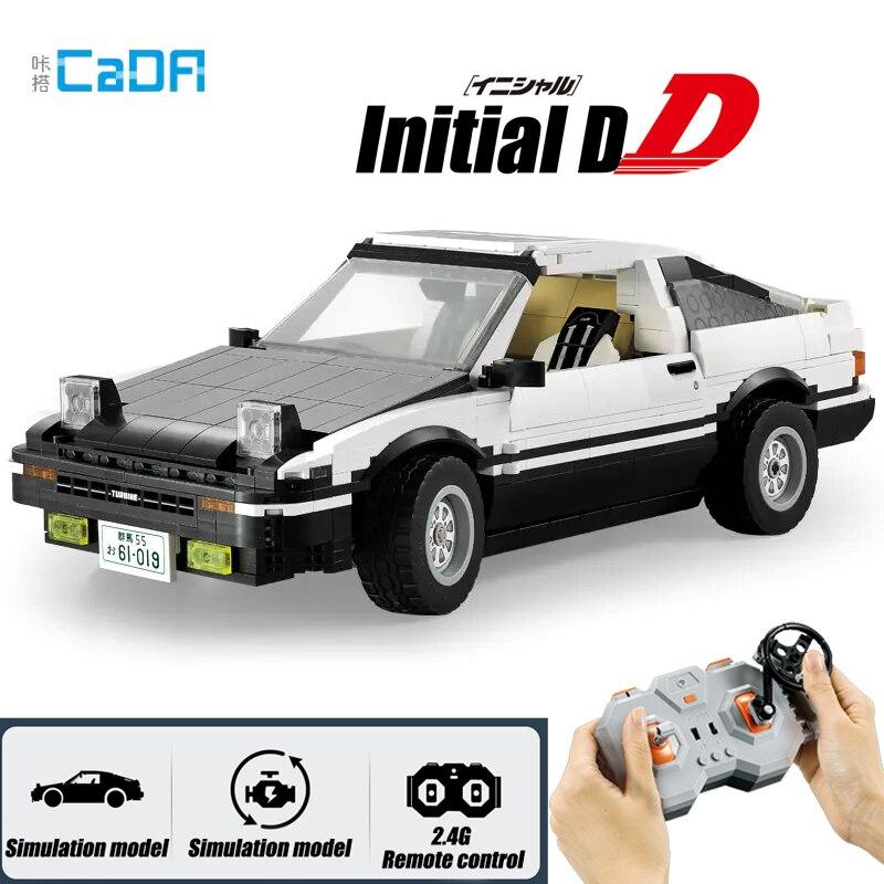 Набор строительных блоков Initial D Toyota K81 AE86, суперрадиоуправляемая машинка, 2 версии, подходит для Technic Creator, «сделай сам», игрушка для детей, под...