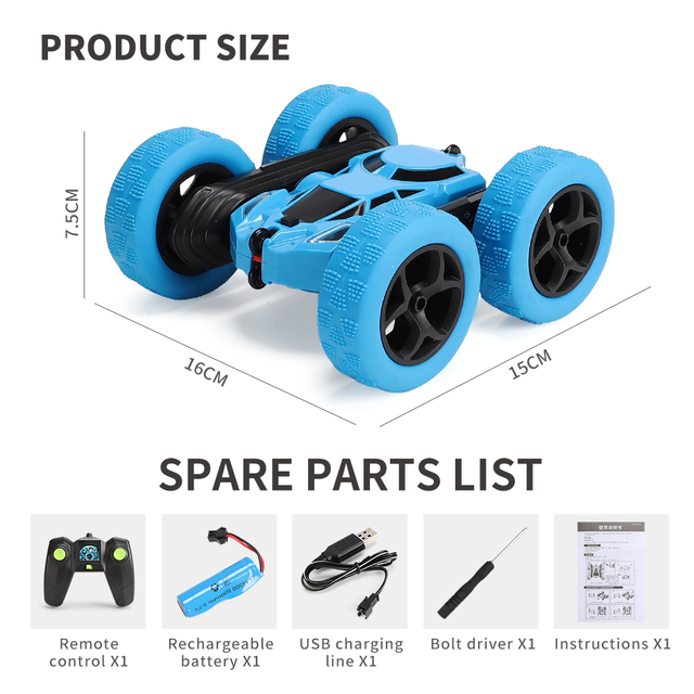 360 Degree Roll Double Sided Stunt Car 6