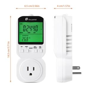 Image 2 - Thermostat Timer Switch, Houzetek 20 ON/OFF Programmer Digital Timer Automatic Temperature Electric Socket US Plug