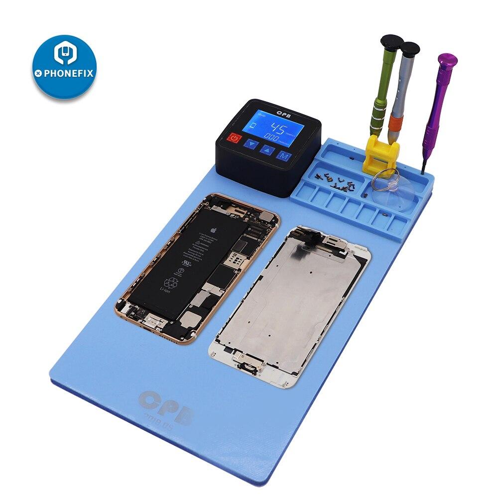 PHONEFIX CPB coussin chauffant LCD écran séparateur Machine d'ouverture téléphone portable écran séparateur pour iPhone iPad Samsung outil d'ouverture