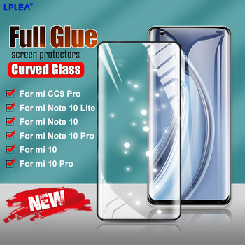 Tempered Glass On The For Xiaomi Mi Note 10 Lite Screen Protection Full Glue Curved Glass Xiaomi 11 10 Pro CC9 Protective Film 1