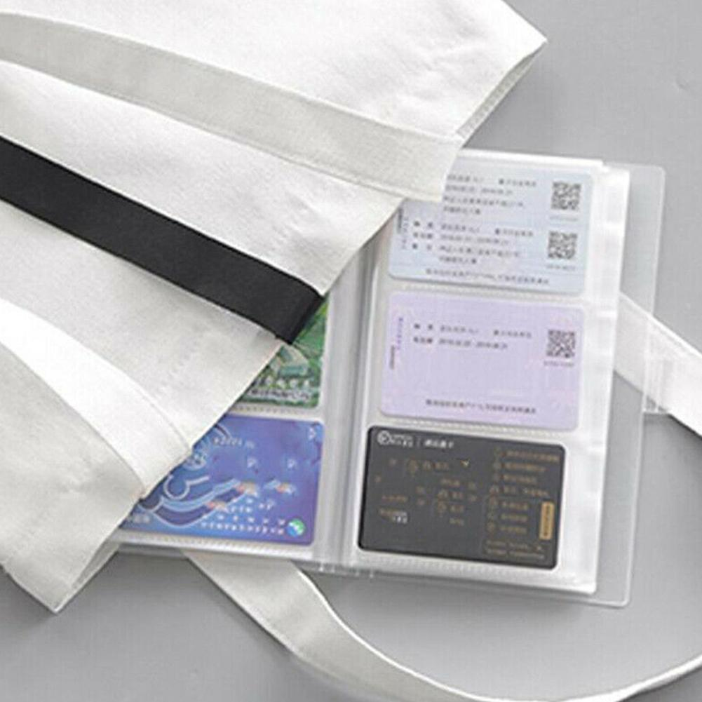1piece 240 Card Slots Office Transparent Business Card Card Large Id Capacity Holder Ticket Card Collection Card Holder Bus U3D9