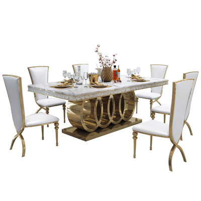 2020 most pashionble moderndesign metal marble top dining table restangle luxury multi desk for dining room living room