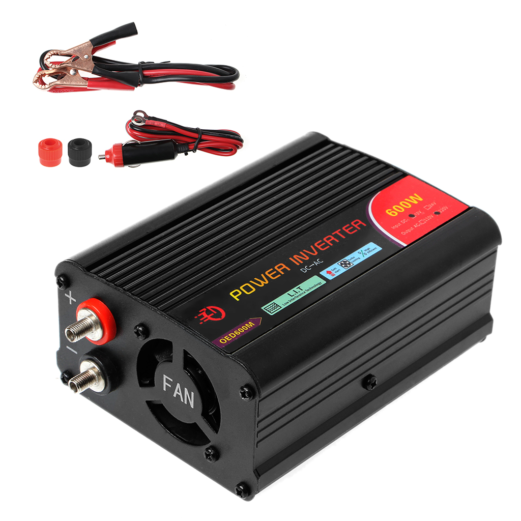 New 300W/400W/<font><b>500W</b></font>/600W Power <font><b>Inverter</b></font> Converter DC 12V to 220V AC Cars <font><b>Inverter</b></font> with Car Adapter Whosale&Dropship image