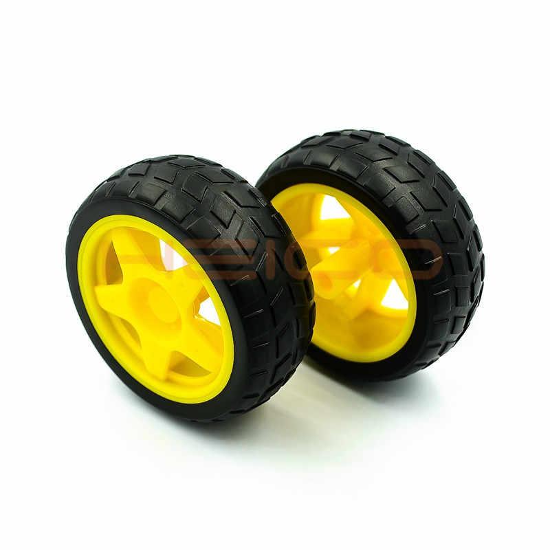 4 قطعة TT موتور عجلات هيكل السيارة الذكية روبوت التحكم عن بعد عجلات السيارة Arduino roboبها بنفسك الروبوتات أطقم منمذجة