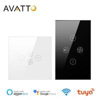 AVATTO akıllı Wifi Fan ışık anahtarı, ab/abd tavan fanı lambası anahtarı Tuya uzaktan çeşitli hız kontrol Alexa ile çalışmak, Google ev