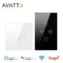 Avattoスマート無線lanファンライトスイッチ、eu/米国天井ファンランプスイッチチュウヤリモートさまざまなスピードコントロールの仕事アレクサ、googleホーム