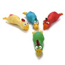 2 предмета кричащий цыпленок латексные игрушки вокальный мультфильм животных собак и кошек сопротивление дружественных молярная зубная игрушка DNJ998