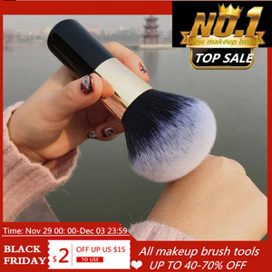 Image 1 - Büyük boy makyaj fırçalar krem vakıf pudra fırçası seti yumuşak yüz allık fırçası profesyonel büyük kozmetik makyaj araçları