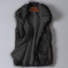 female fox fur coat vest Women Arctic Fleece Winter Striped Crew Neck Long Sleeve Blouse Drosphipping Z1023(China)