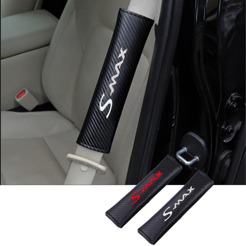 Épaulettes de ceinture de sécurité de voiture de couverture de ceinture de sécurité de voiture de mode d'unité centrale pour Ford Smax S max
