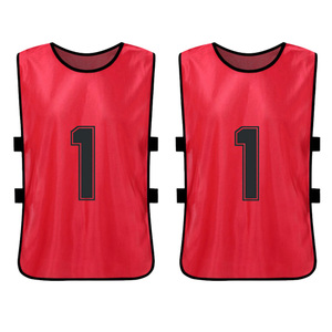 Image 3 - 12 PCS Sports Vest Kids Football Pinnies Quick Drying Soccer Jerseys Youth Sports Scrimmage Training Numbered Bibs Practice
