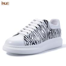 INOE 2020 Genuine Leather Women Fashion Casual Sneakers Spring Shoes