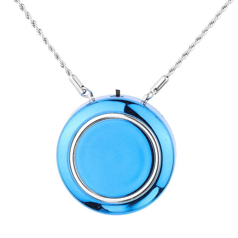 Personal Wearable Air Purifier Necklace/Mini Portable Air Freshner Ionizer/Negative Ion Generator/Odor Eliminator/Remove Smoke D